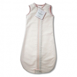 Спальный мешок для новорожденного SwaddleDesigns zzZipMe Sack 3-6M Flannel Lt PP w/PP Dots