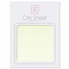 Детская простынь Fitted Crib Sheet Lt. KW w/KW Dots