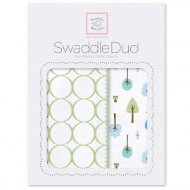 Набор пеленок SwaddleDesigns Swaddle Duo KW Cute & Wild