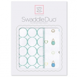 Набор пеленок SwaddleDesigns Swaddle Duo SC Peace/LV/SW