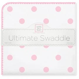 Пеленка фланель для новорожденного SwaddleDesigns Ultimate Big Dots Pink