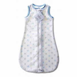 Детский спальный мешок SwaddleDesigns zzZipMe 12-18 М PB & Sterling Dot