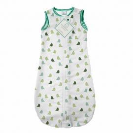 Спальный мешок для новорожденного SwaddleDesigns zzZipMe Sack 3-6M Flannel TQ Lt Chickies