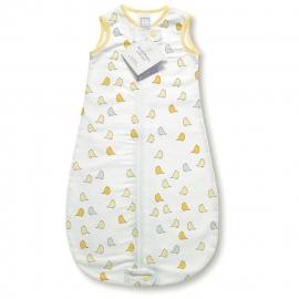 Спальный мешок для новорожденного SwaddleDesigns zzZipMe Sack 3-6M Flannel Y Lt Chickies