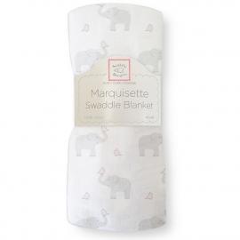 Пеленка детская тонкая SwaddleDesigns Маркизет PP Elephant/Chickies