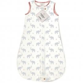 Спальный мешок для новорожденного SwaddleDesigns zzZipMe Sack 3-6M Flannel PP Elephant & Chickies