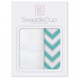 Набор пеленок SwaddleDesigns Swaddle Duo SC Classic Chevron