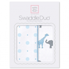Набор пеленок SwaddleDesigns Swaddle Duo Blue Circus Fun