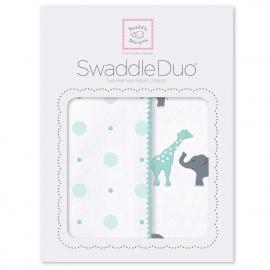 Набор пеленок SwaddleDesigns Swaddle Duo SC Circus Fun