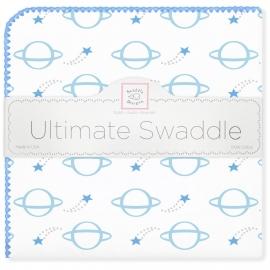 Пеленка фланель для новорожденного SwaddleDesigns Ultimate Planets Blue