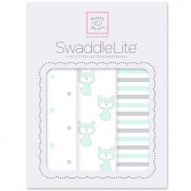 Набор пеленок SwaddleDesigns SwaddleLite Pstl SeaCrystal Little Fox