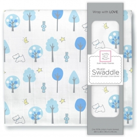 Пеленка муслиновая SwaddleDesigns Blue Forest