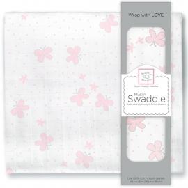 Пеленка муслиновая SwaddleDesigns Pstl Pink Butterflies