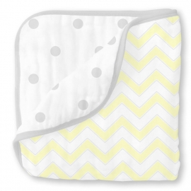 Одеяло муслиновое SwaddleDesigns Luxe Muslin Pale Yellow Chevron