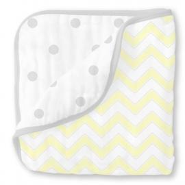 Одеяло муслиновое SwaddleDesigns Luxe Muslin Pale Yellow Chevron