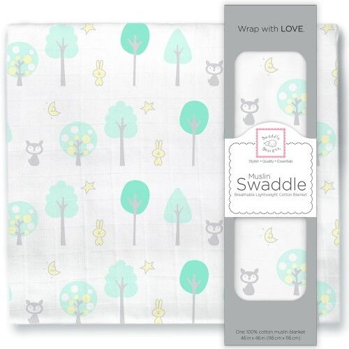 Пеленка муслиновая SwaddleDesigns Green Woodland