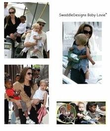 Анжелина Джоли и Swaddle Designs